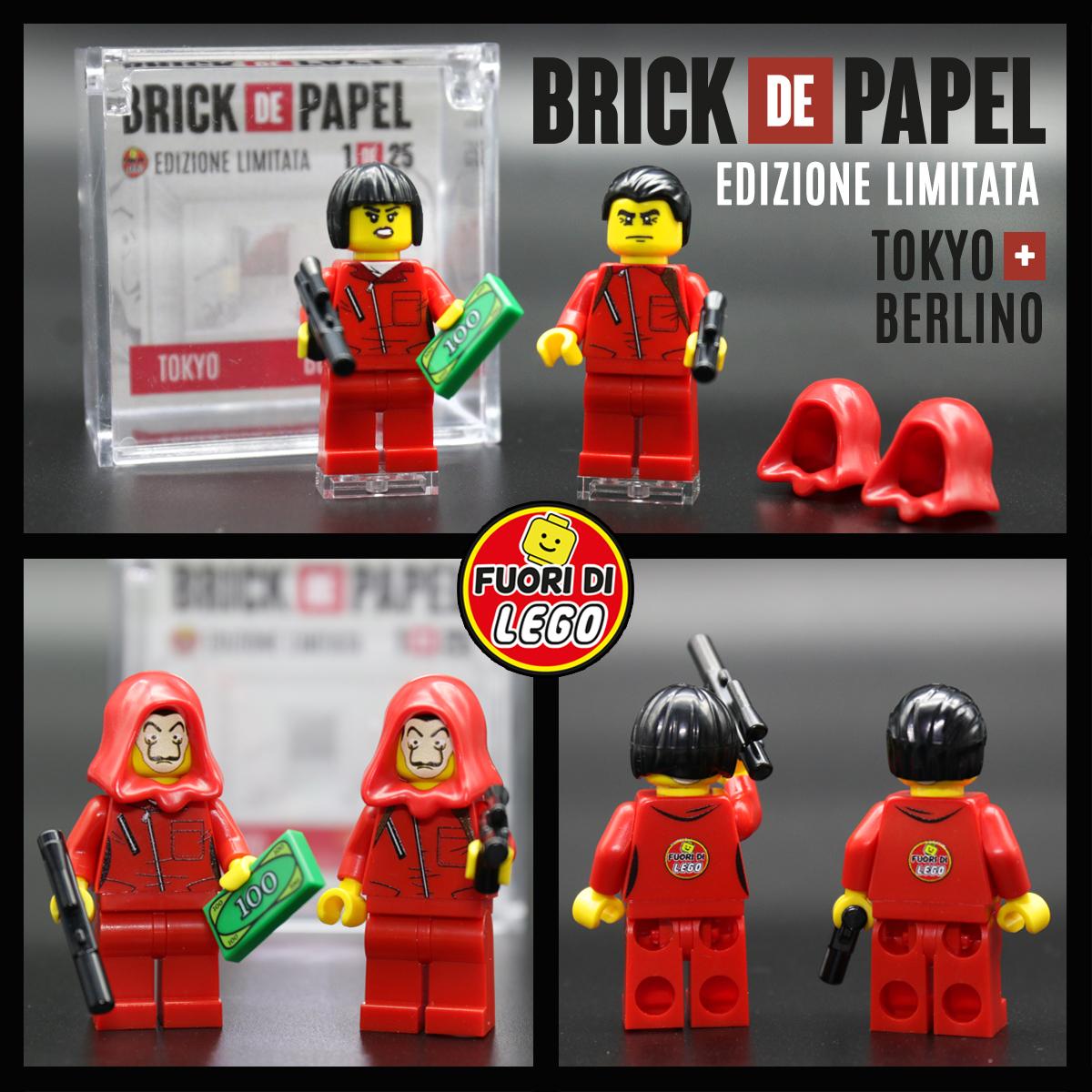 Tokyo e Berlino La Casa di Carta | Minifigure Lego | Fuori di Brick
