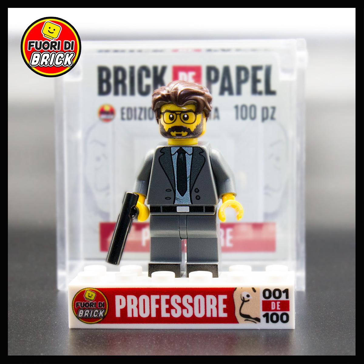Professore La Casa di Carta | Minifigure Lego | Fuori di Brick
