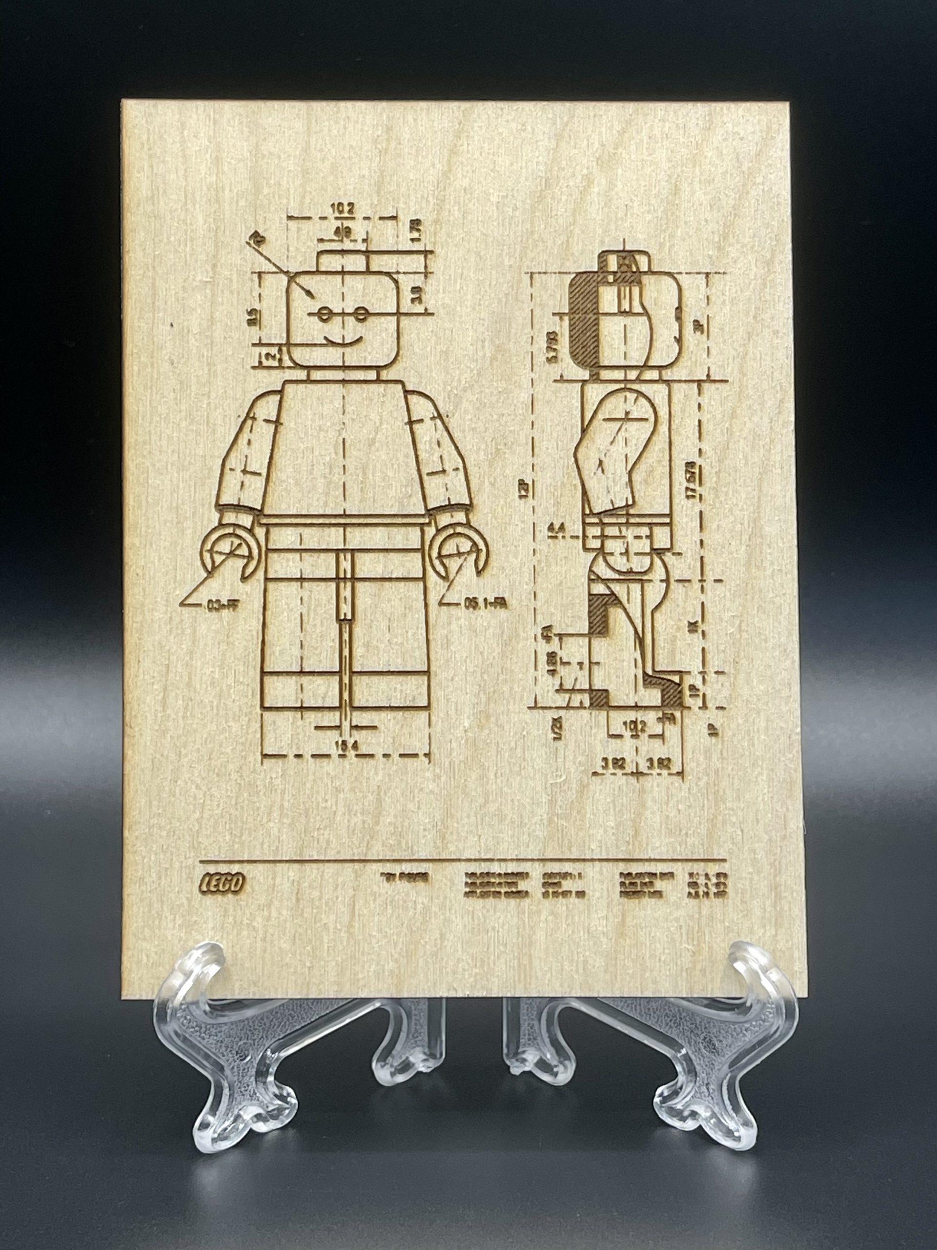 Brevetto LEGO 1979 - Incisione su legno