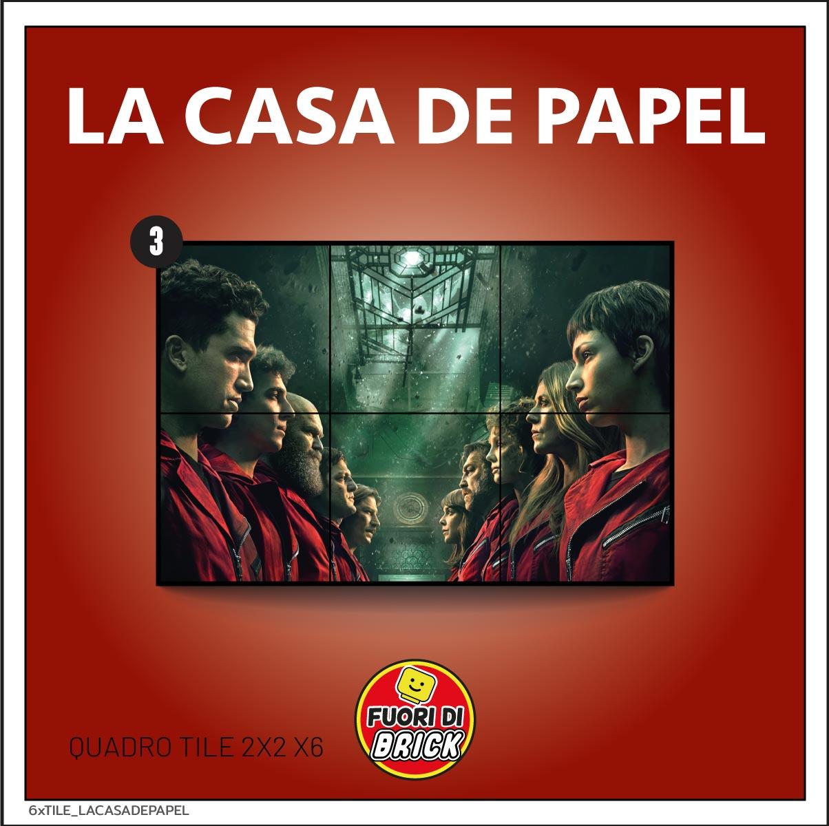 QUADRO TILE 2x2 x6_LA CASA DE PAPEL